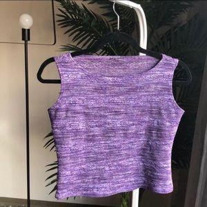 Purple Woven Tribal Print Crop Top!